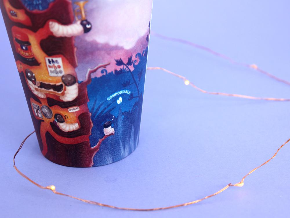 Kuwi the Kiwi Coffee Cup Design Product