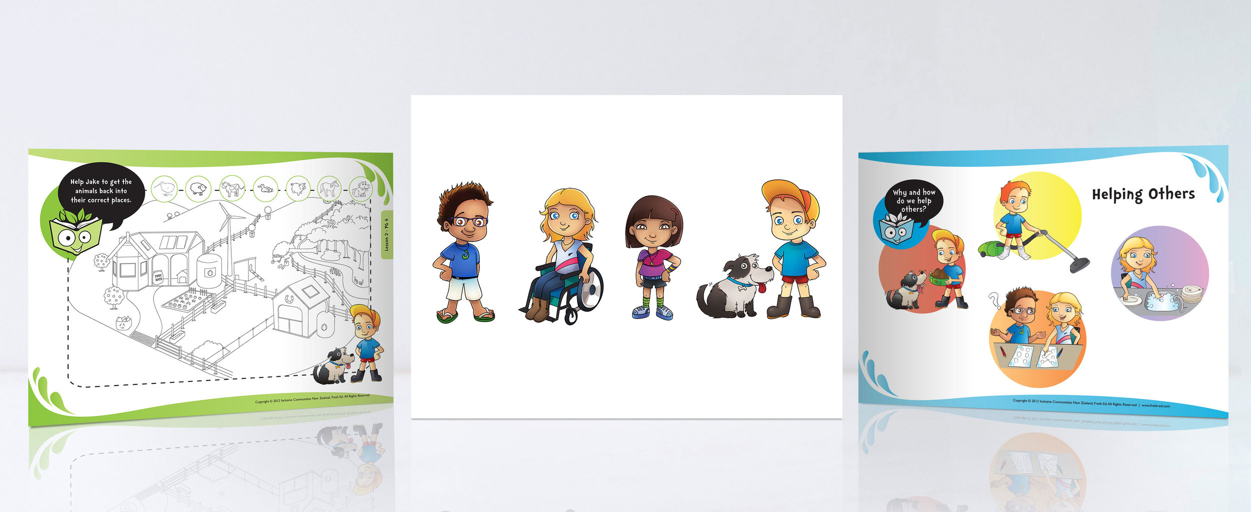 Fresh Ed Inclusive Education Programme Illustration Commercial