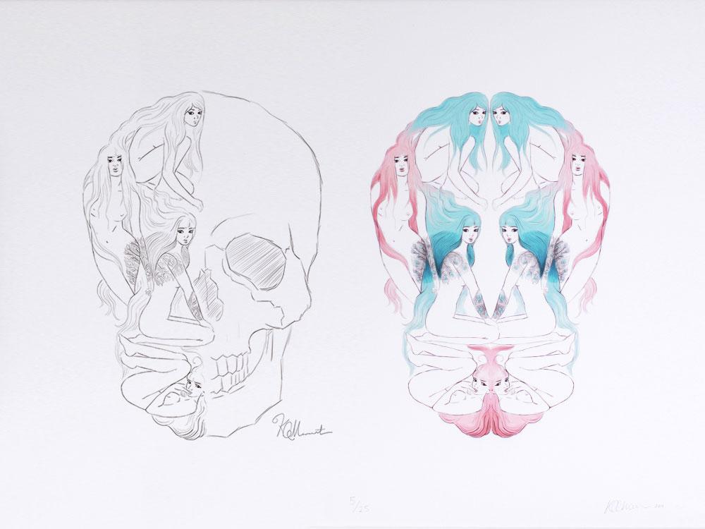 Pretty Scary Kat Merewether 2013 Print Series Illustration Art