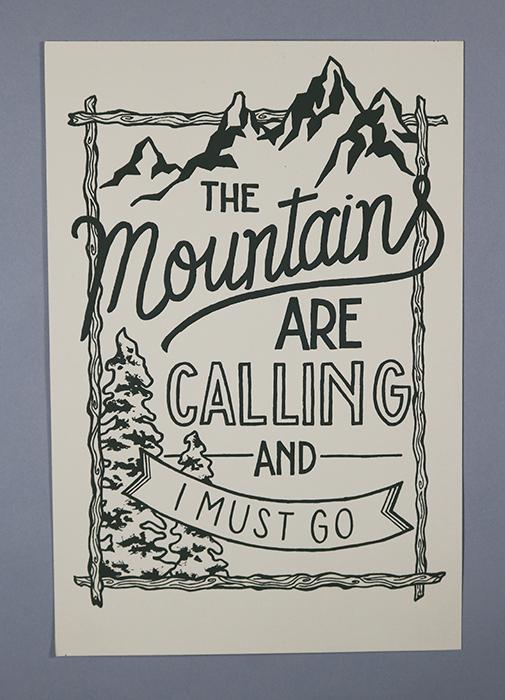 "The Mountains , 11""x17"" Screen-print, 2015"