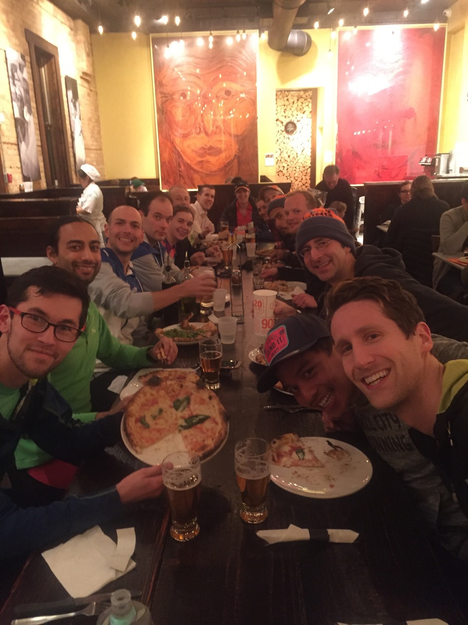 Mill City runners at Punch Pizza