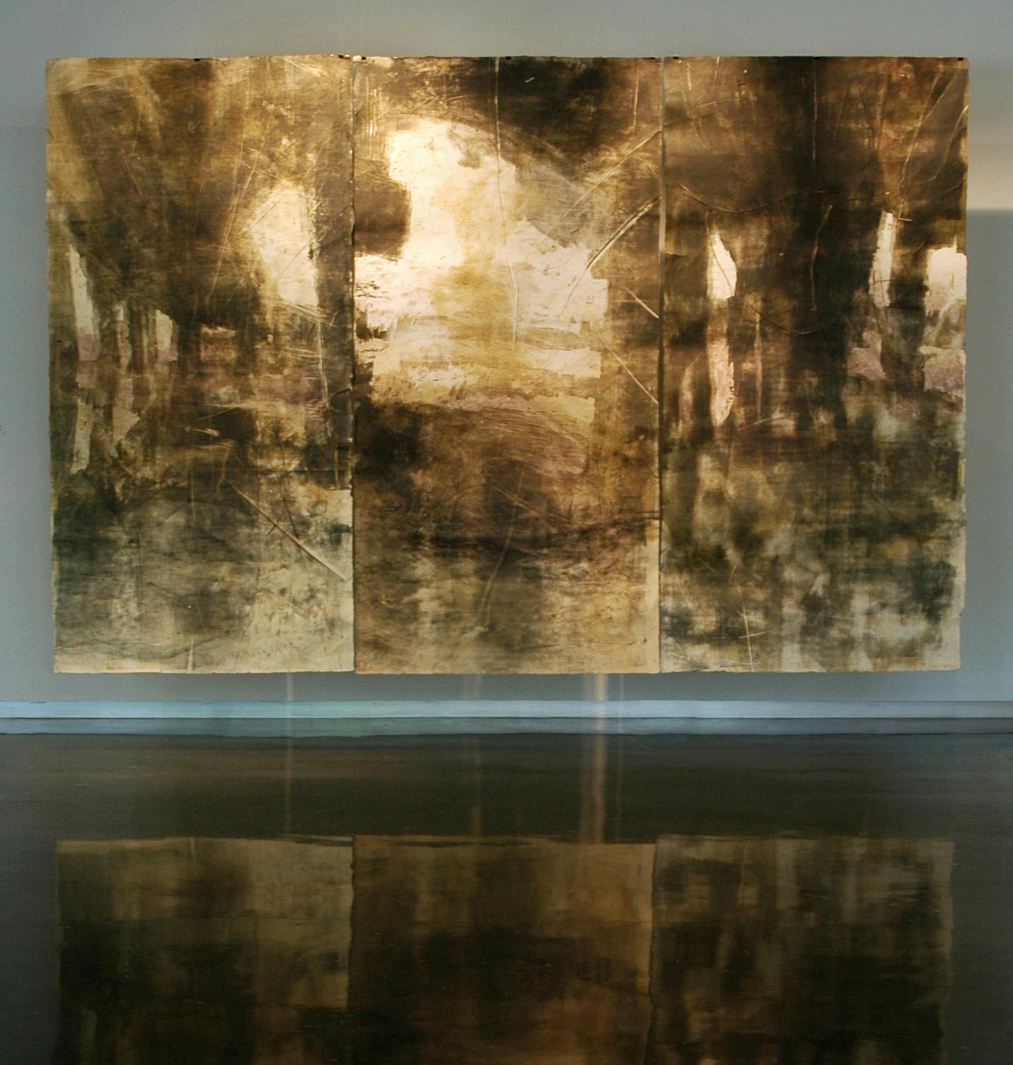 Port Allen Bridge, 2010, Woodcut, Handmade Paper, 8' x 12'