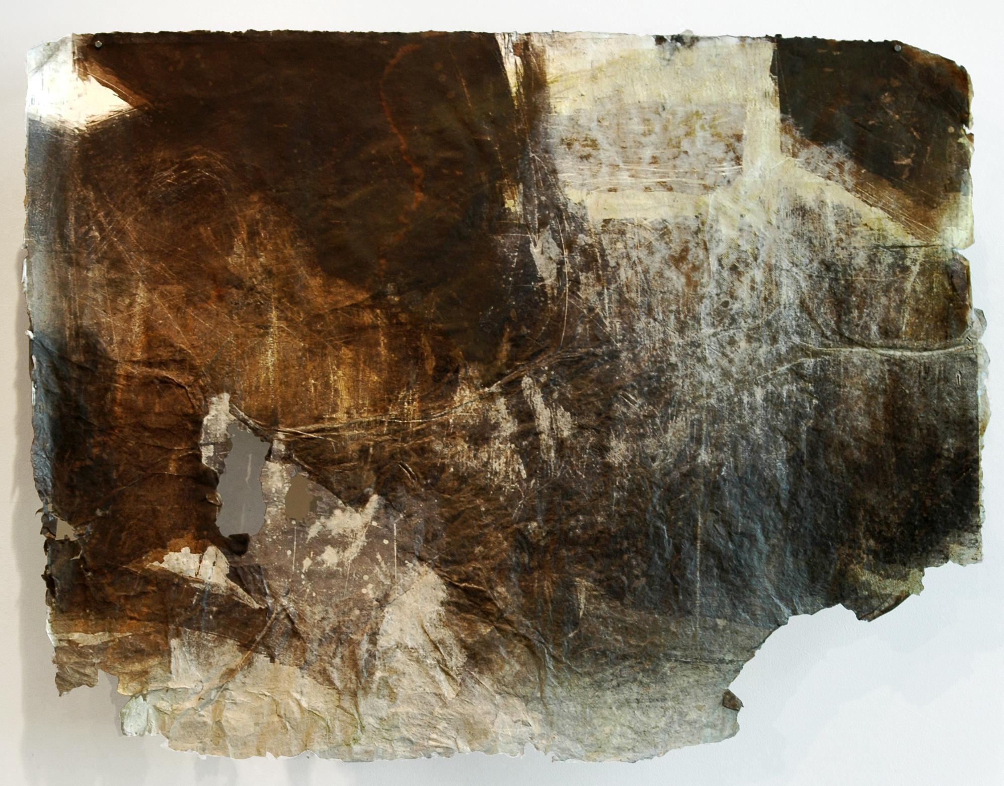 "Cinclaire Study 2, 2011, Handmade Paper, Woodcut, 36"" x 48"""