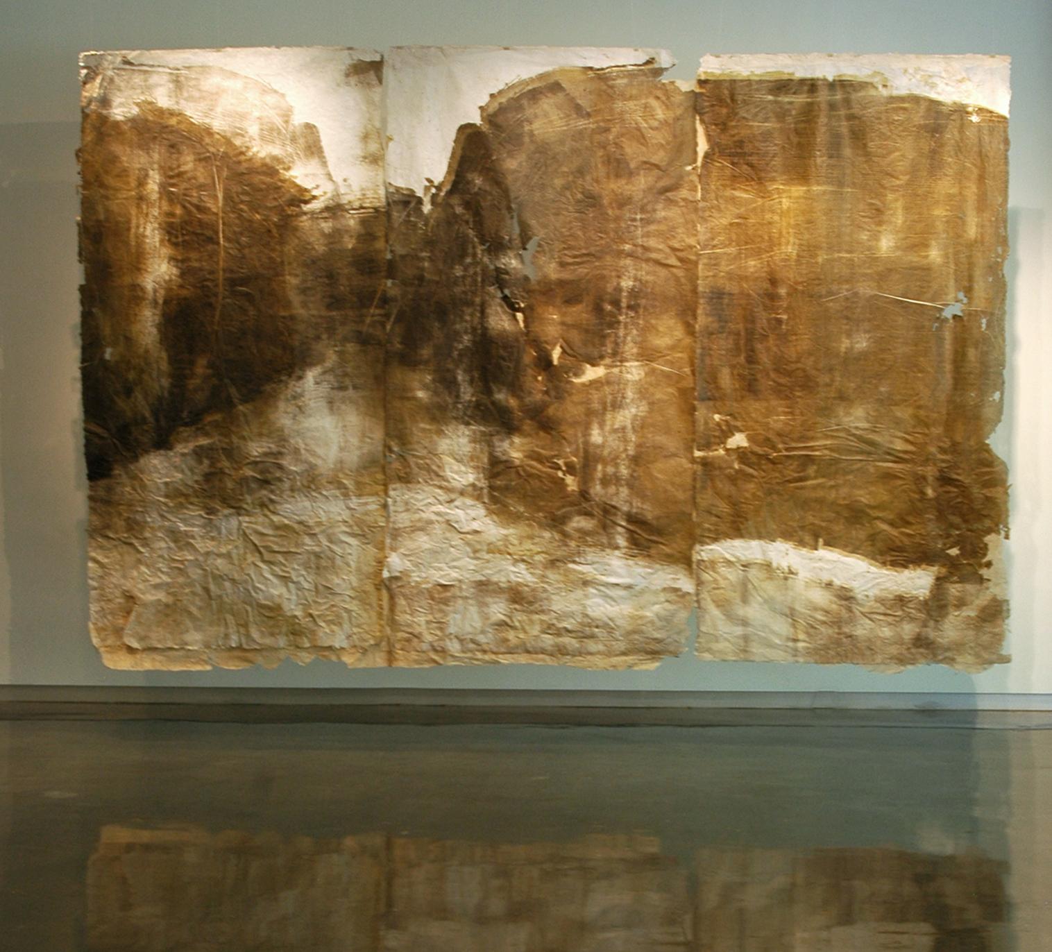 Plaquemine Lock 1, 2011, Woodcut and Handmade Paper, 8' x 12'