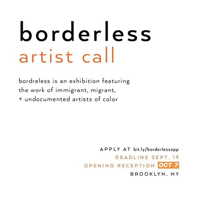 Our dear friend and talented artist @em_ulsify is putting together a very special exhibition! #repost ••• b o r d e r l e s s is an exhibition featuring the work of immigrant, migrant, and undocumented artists of color. this show hopes to bring artists together while highlighting and promoting their work. Applications to be featured are open until September 19. Opening night will be October 7 in bedstuy at @earthartscenter ✨artists of all practices and mediums are encouraged to apply✨ . are you interested in showing your work or do you know someone who might be? please apply or send this to someone who might want to! . thank you @brngrlspk and @the.femme.project for all the help getting this together 💕 . . . . . . . . . . . #sketchbook#handmade#artistsofinstagram#illustrationoftheday#art #instaart #artists #qpoc #femmesofcolor #sketch #illustrator #instawork #digitalart #undocuart #photooftheday #latinx #print #color #queerart #artdiscover #illustrationow #arttherapy #noborders #undocumented #artshow #artistcall