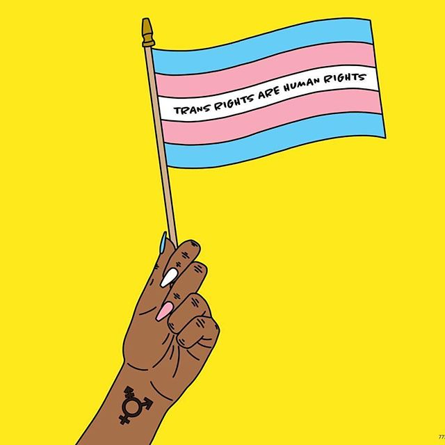 An important reminder (since it clearly needs to be repeated): trans rights ARE human rights and trans people WILL NOT be erased. This is the time to put your money, votes, and support where your mouth is. • 🎨 @sarah.epperson