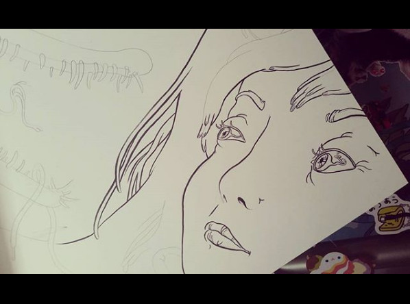 """Gharial Girl"" work in progress"