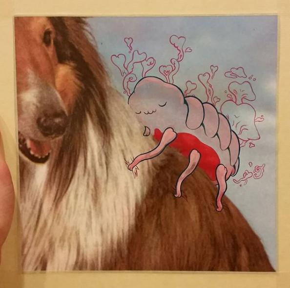 Flea friend on old poster