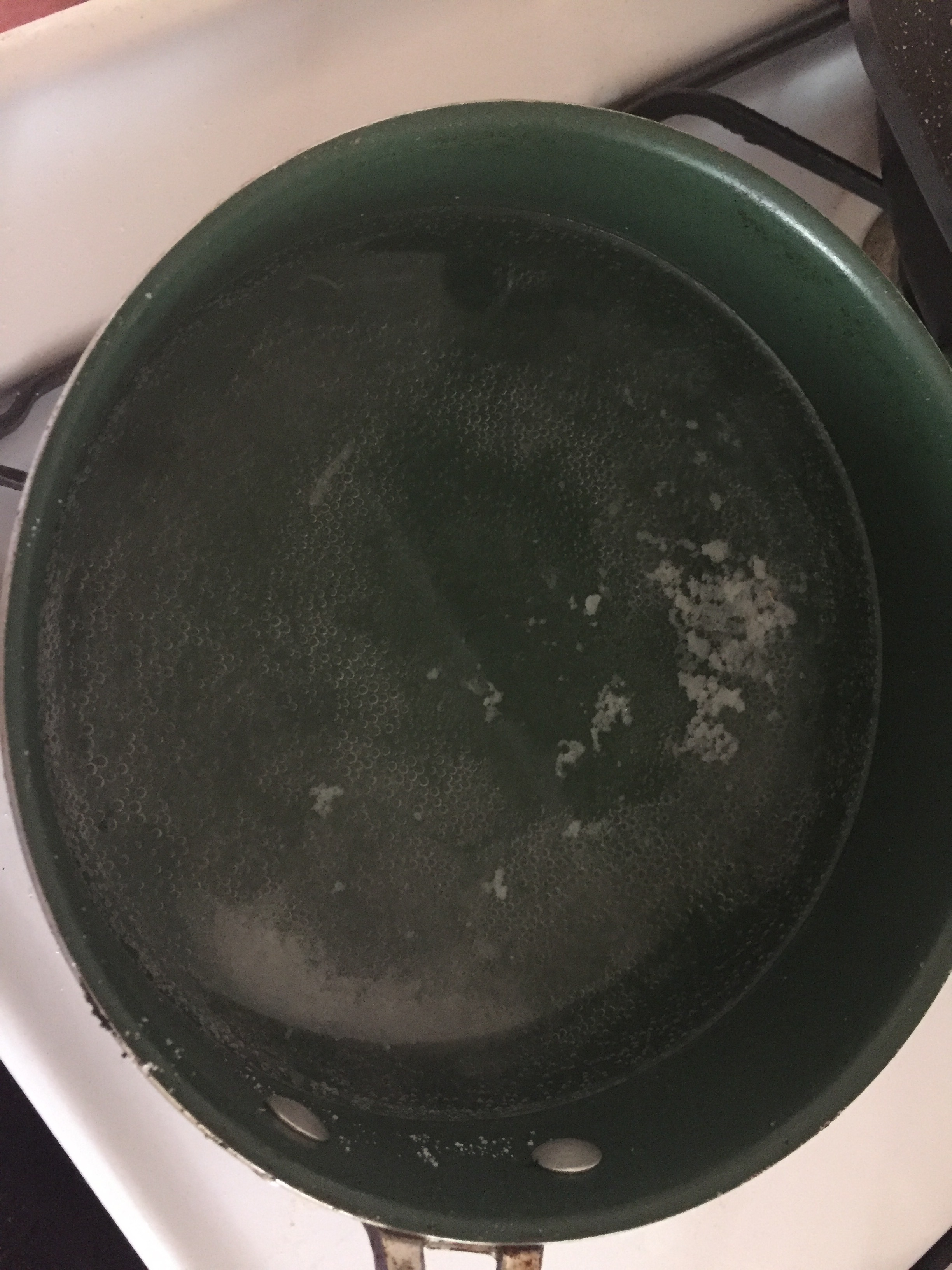 Add water, sugar, salt and vinegar to a medium stockpot and bring to a raging boil. Turn off the heat and put aside to cool