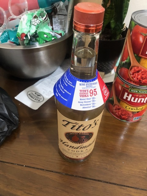 Yum...drink up and cheers my dedication to my sauce which took over an hour  Ingredients  Cup of voka  2 30 oz cans of crushed tomatoes  medium onion  3-5 cloves of garlic  0.5 cups of butter  pint of heavy cream                         Plan of Attack