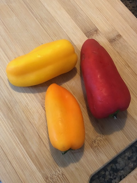 Rinse your peppers under your Brooklyn flaucet. yeah, flaunt your pronunciation of flaucet.