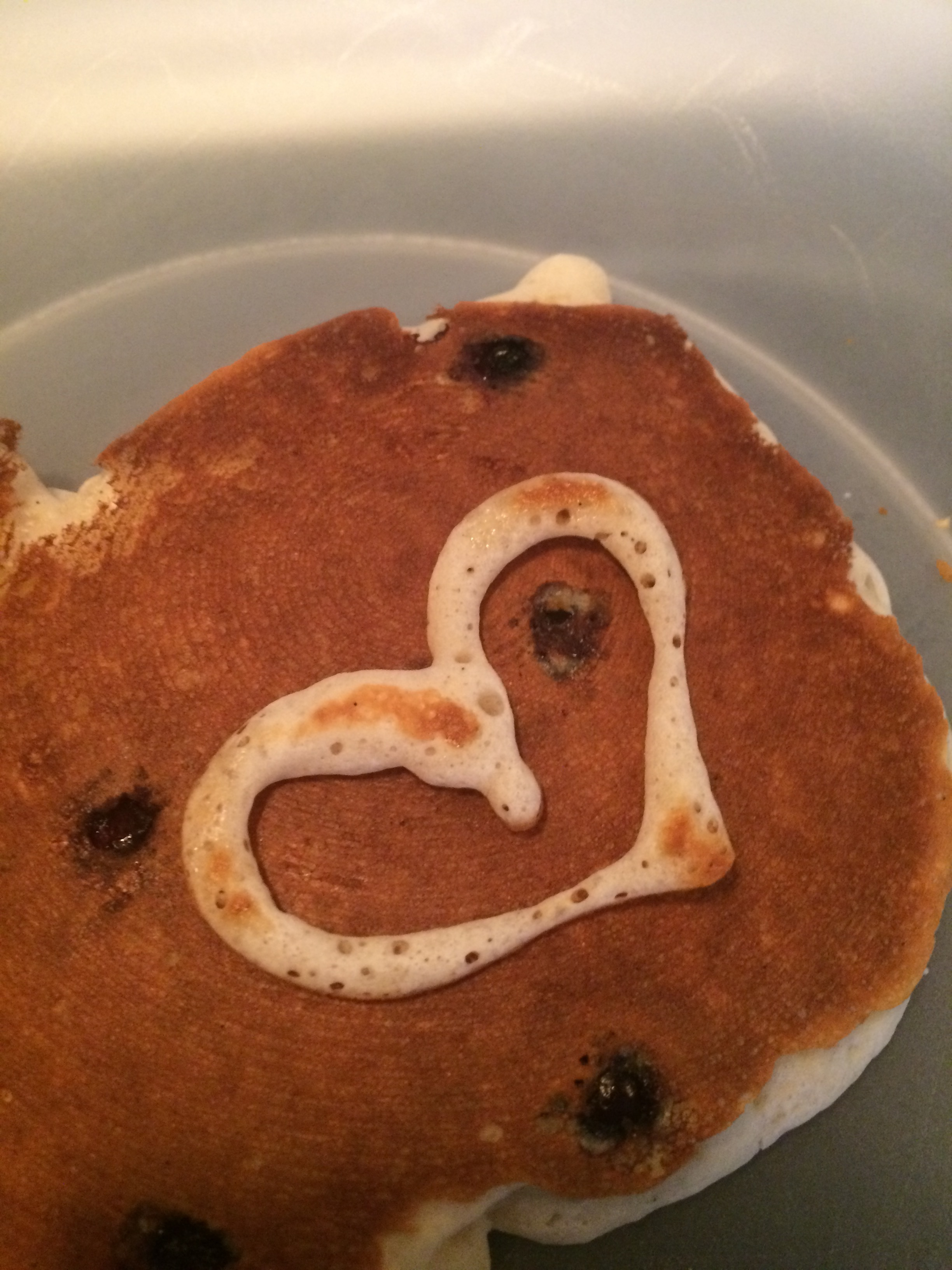 Pancakes made with love...and blueberries!