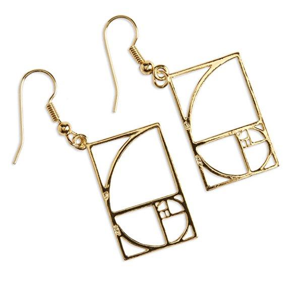 Golden Mean Ratio Earrings