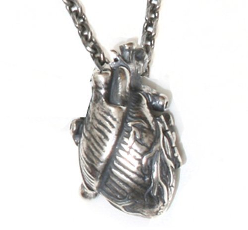 Silver Human Heart Locket