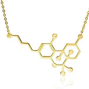 Marijuana Molecule Necklace