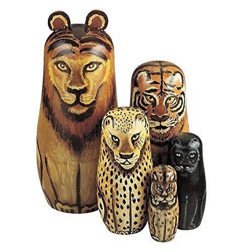 """Wild Cats"" - Matryoshka Dolls"
