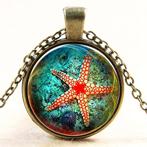 Red Starfish Necklace