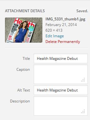 health magazine alt text