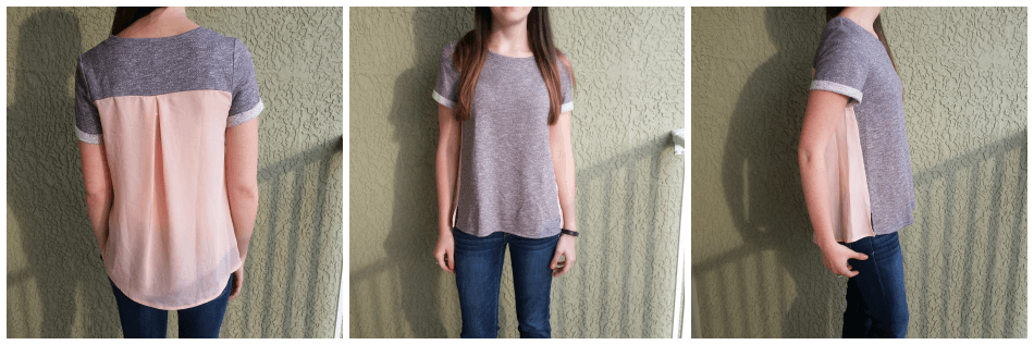 woven pink shirt from Stitch Fix