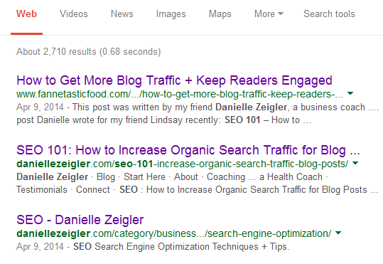 title tags in search