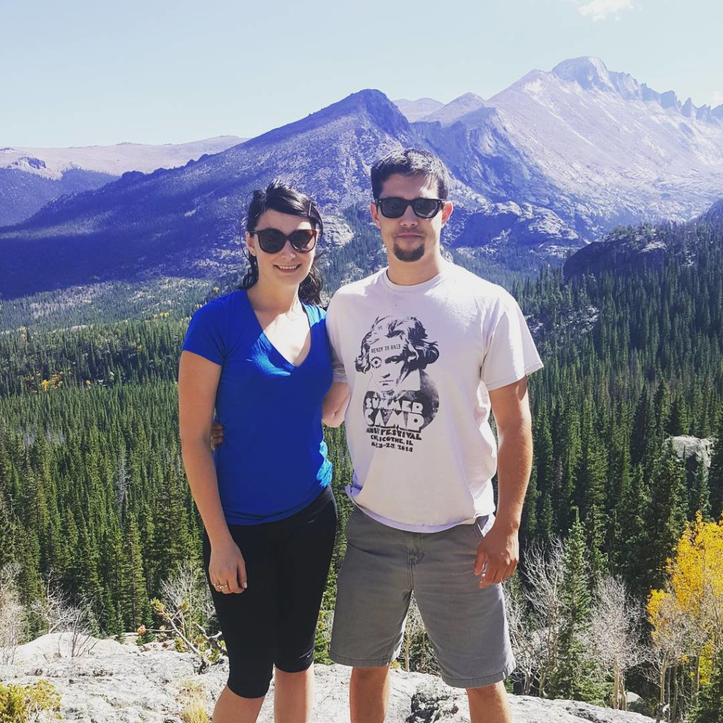 Hiking to Emerald Lake at Rocky Mountain National Park.