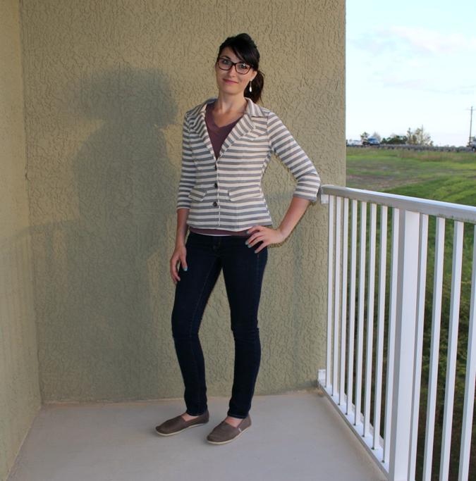 striped casual blazer from stitch fix