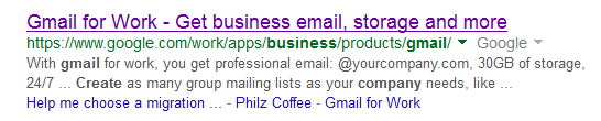 gmail for work example