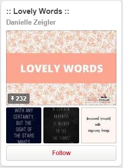 Lovely Words Pinterest Board