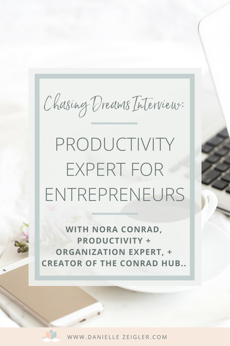 Chasing Dreams Interview with Nora Conrad, Organization & Productivity Expert for Entrepreneurs