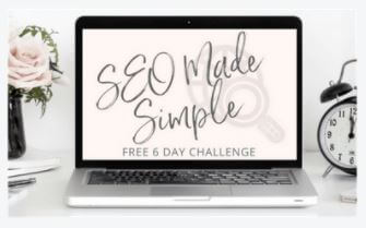 SEO Made Simple free Challenge lead magnet