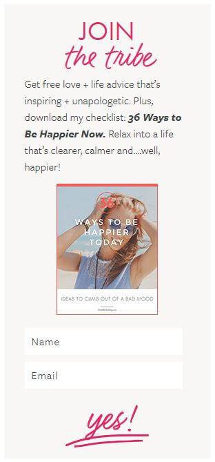 the areas of your website where you can connect with people directly (and invite them to subscribe), I'm sharing lots of great examples by other inspirational businesswomen.