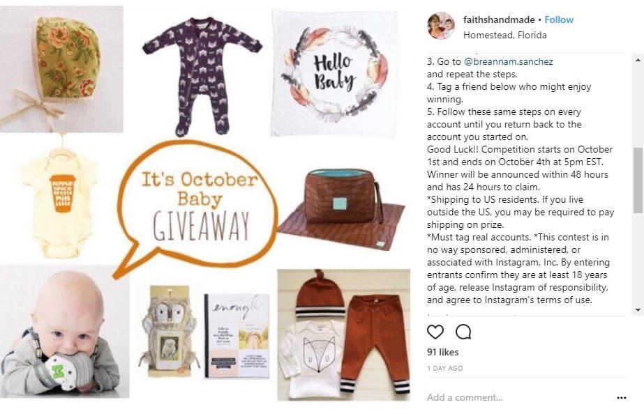 instagram contest example