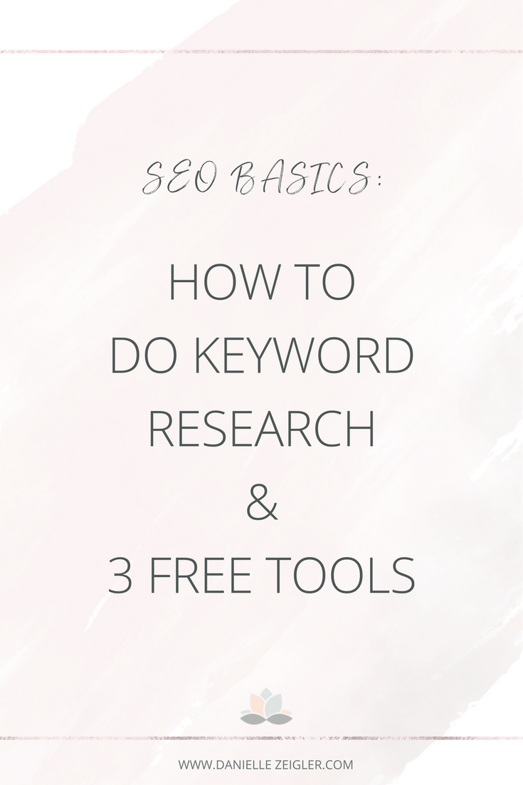 Keyword Research SEO Basics | Tools & Tips for Entrepreneurs