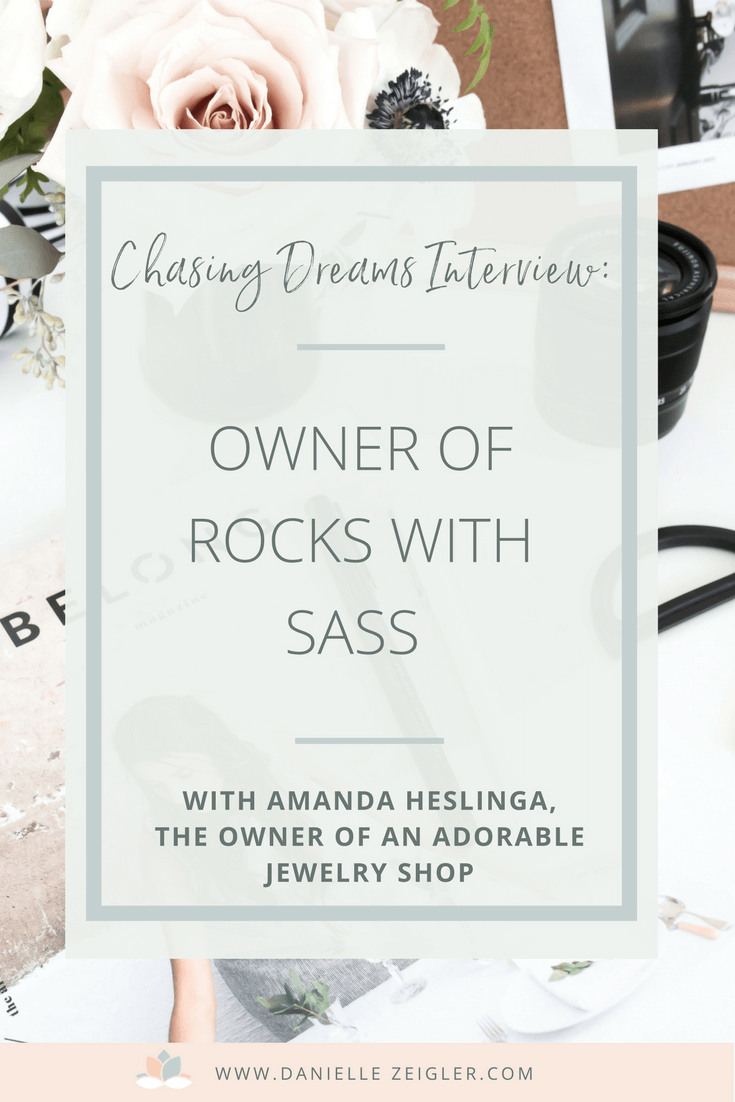 Interview with Amanda Heslinga, Owner of Rocks With Sass Etsy Shop