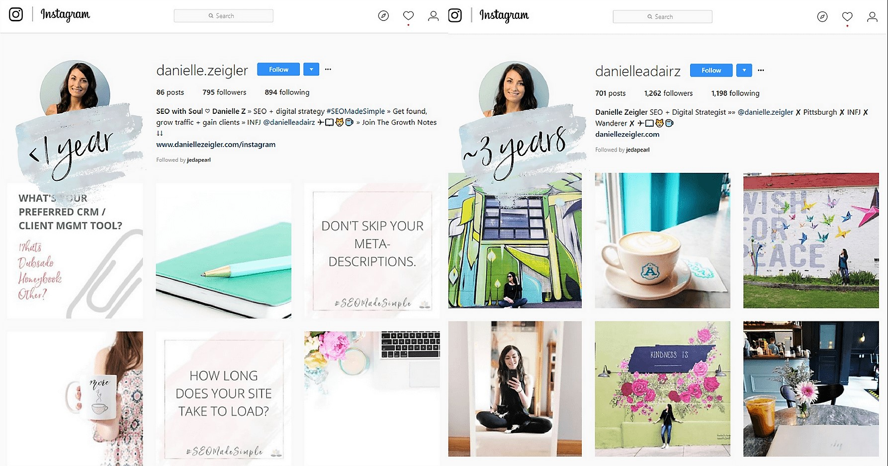 splitting instagram into personal and business worked for me