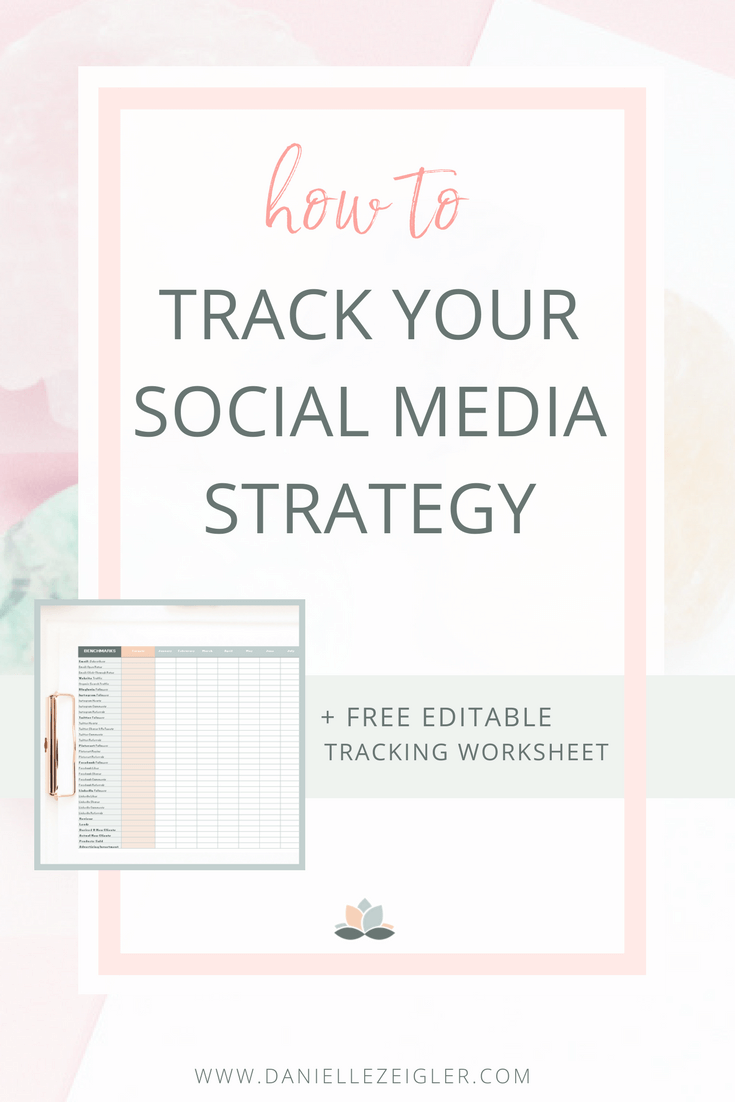 how to track your social media strategy + free editable worksheet