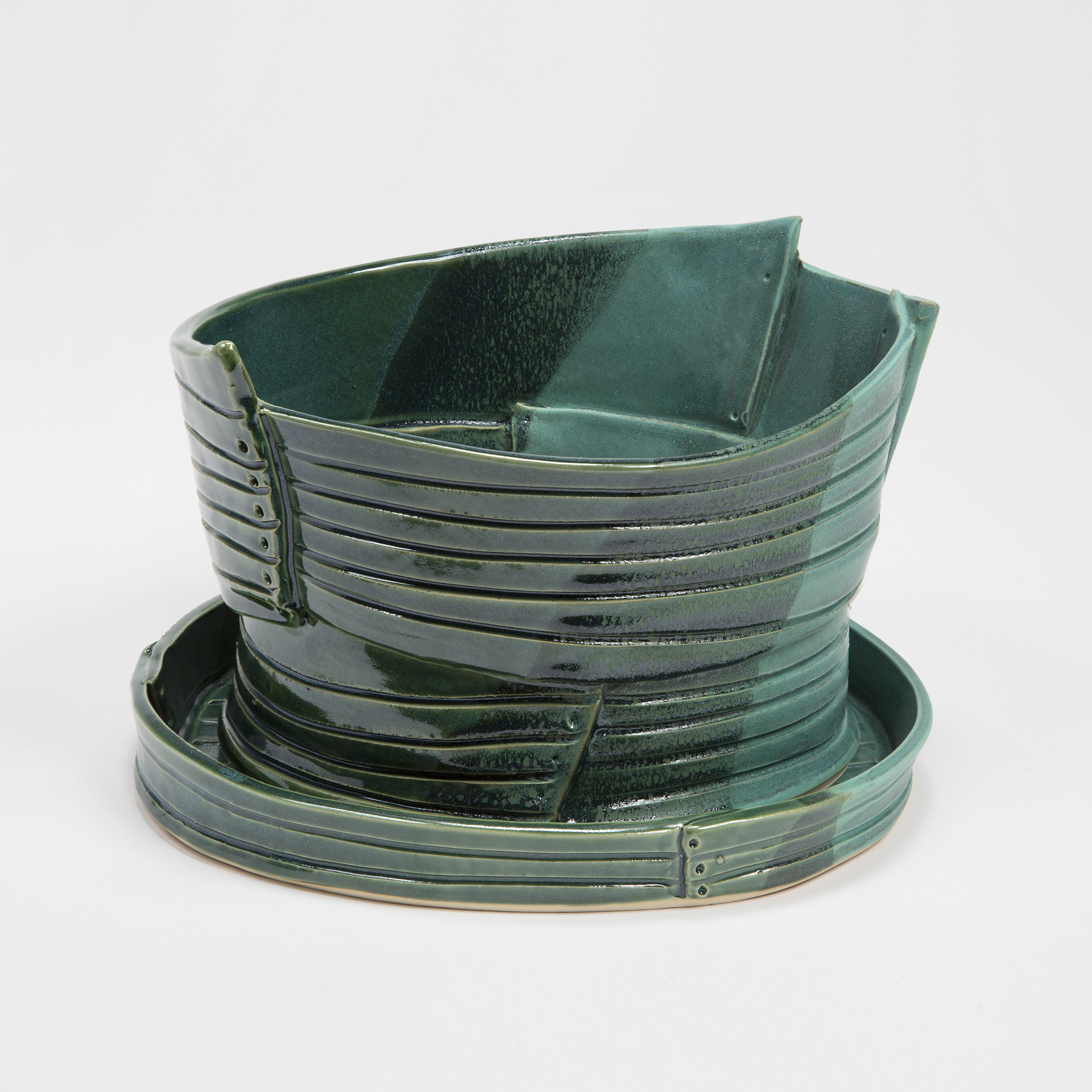 Multigreen Pot with Drainage Holes and Detached Tray