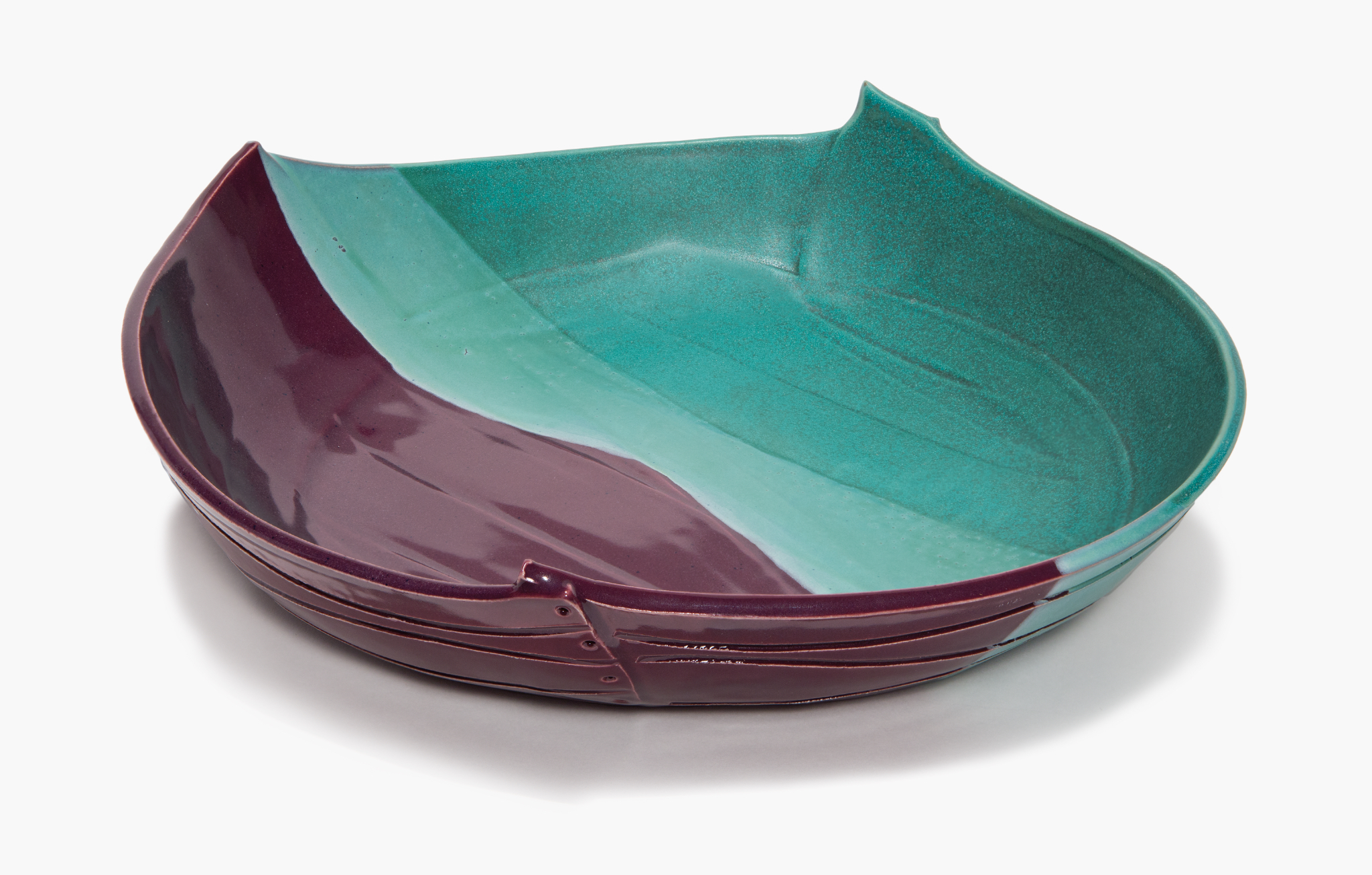 Platter in Teal and Plum