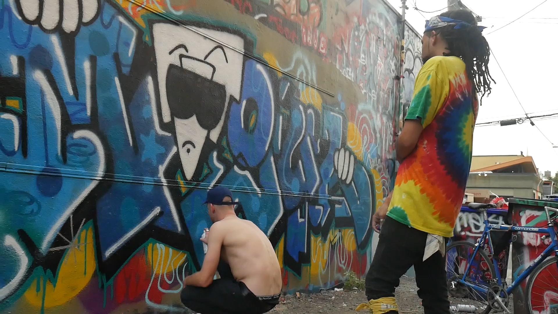 Portland Graffiti on Alberta Street -