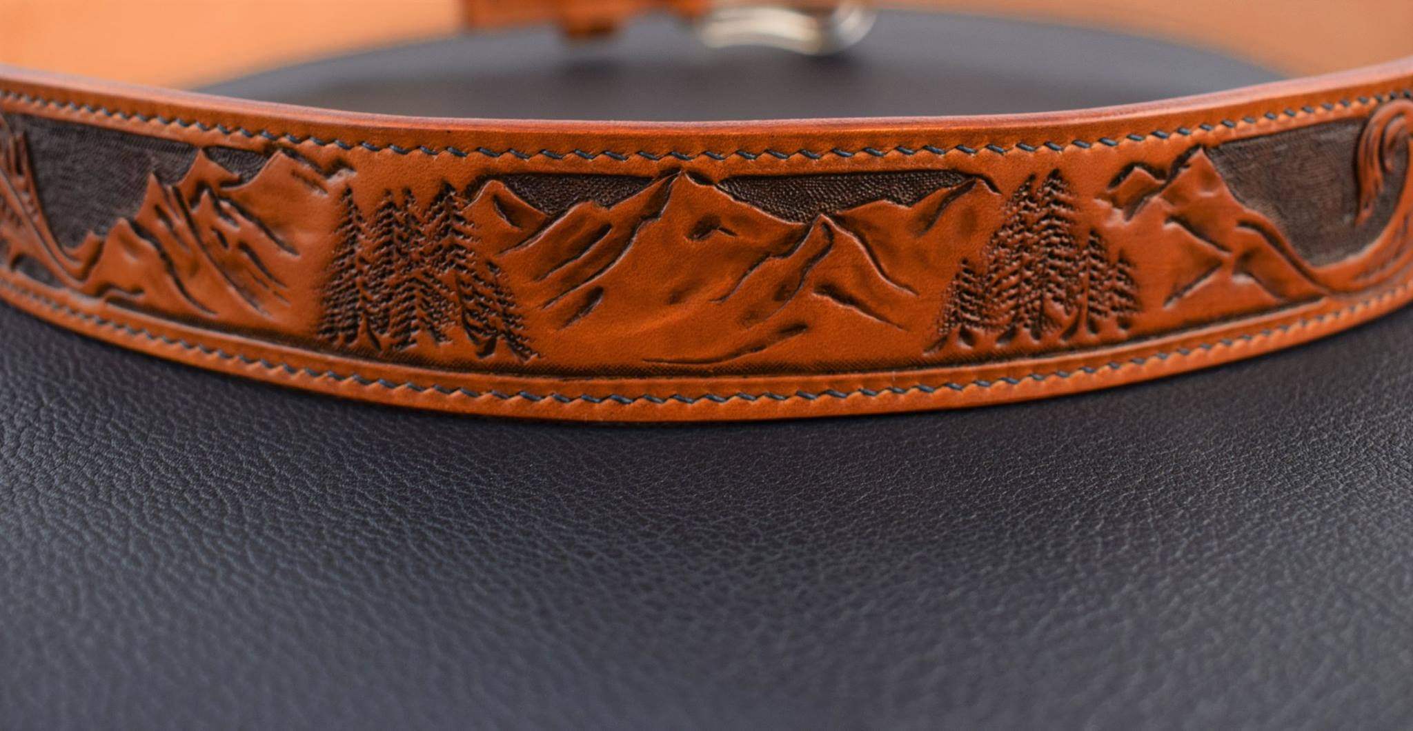 Custom Floral Belt with Mountainscape