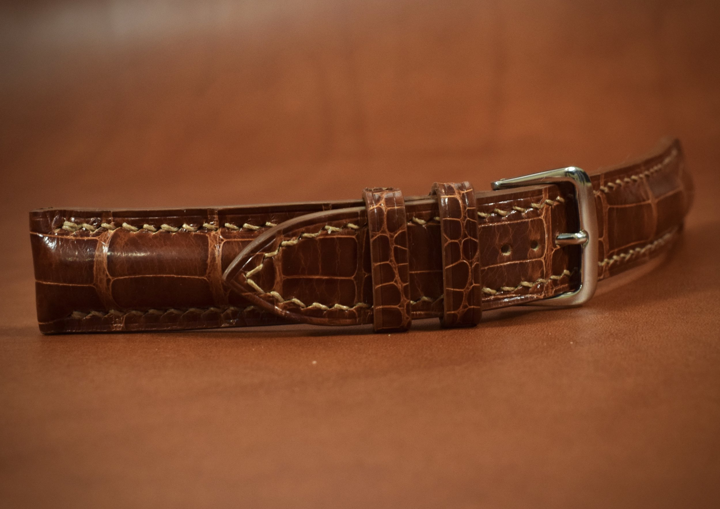 Finally, the buckle is attached and the holes are punched in the strap so that it makes the perfect fit for the customer.