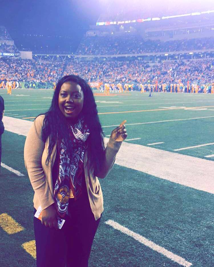 My first sideline experience at a Cincinatti Bengals game against the Miami Dolphins.