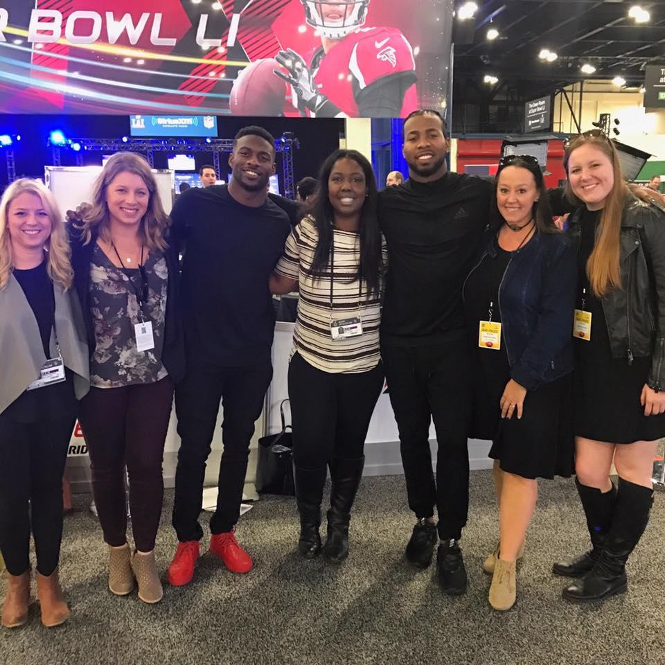 Media day with Josh Norman (Washington Redskins) and Emmanuel Sanders (Denver Broncos) at Super Bowl 50!