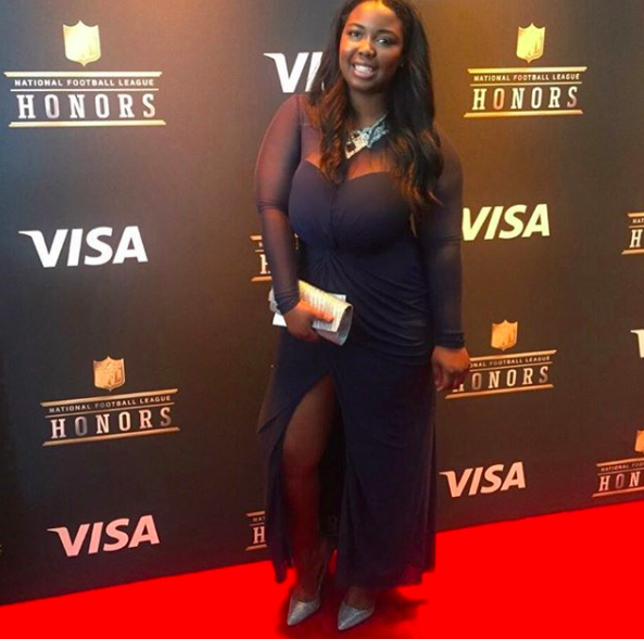 On the red carpet at 2017 NFL Honors Awards Show.