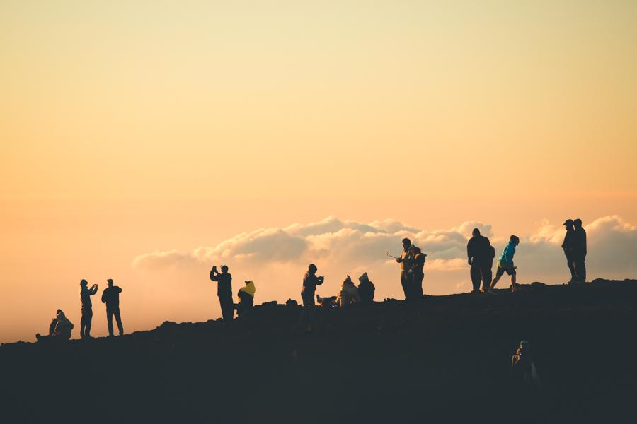 families on mountain