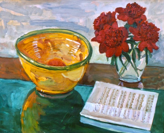 "A Bowl of Provence   26 x 32"", oil on linen"