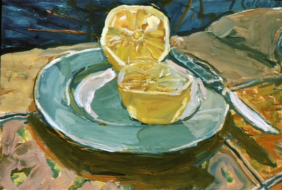 "Grapefruit   16 x 22"", oil on linen"