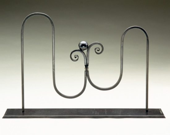 """Propitious Moment -Price: $2,000  11"""" x 17"""" x 3"""", Iron"""