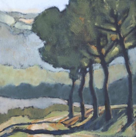 "Tuscan Aria   20 x 20"", oil on canvas"