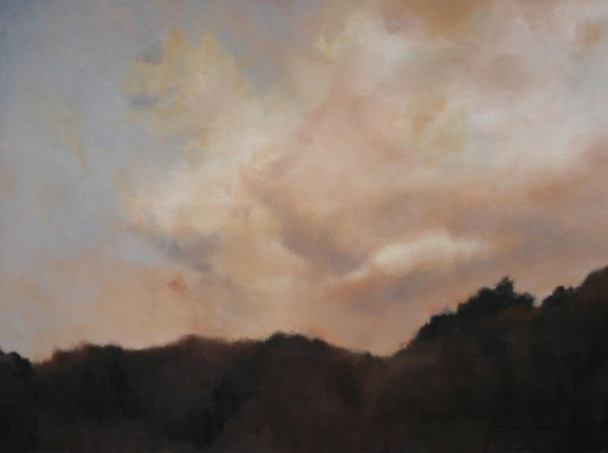 "Falling Light   30 x 40"", oil on canvas"